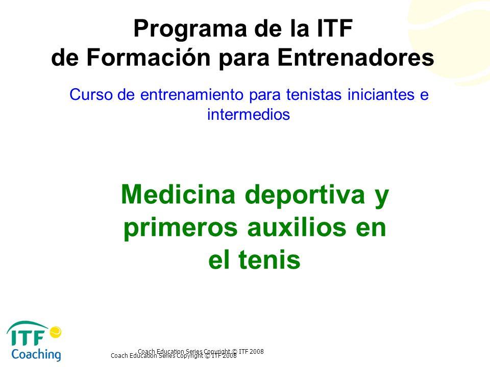 Medicina deportiva y primeros auxilios en el tenis