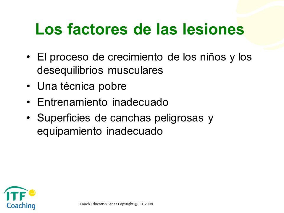 Los factores de las lesiones
