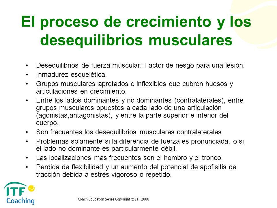 El proceso de crecimiento y los desequilibrios musculares