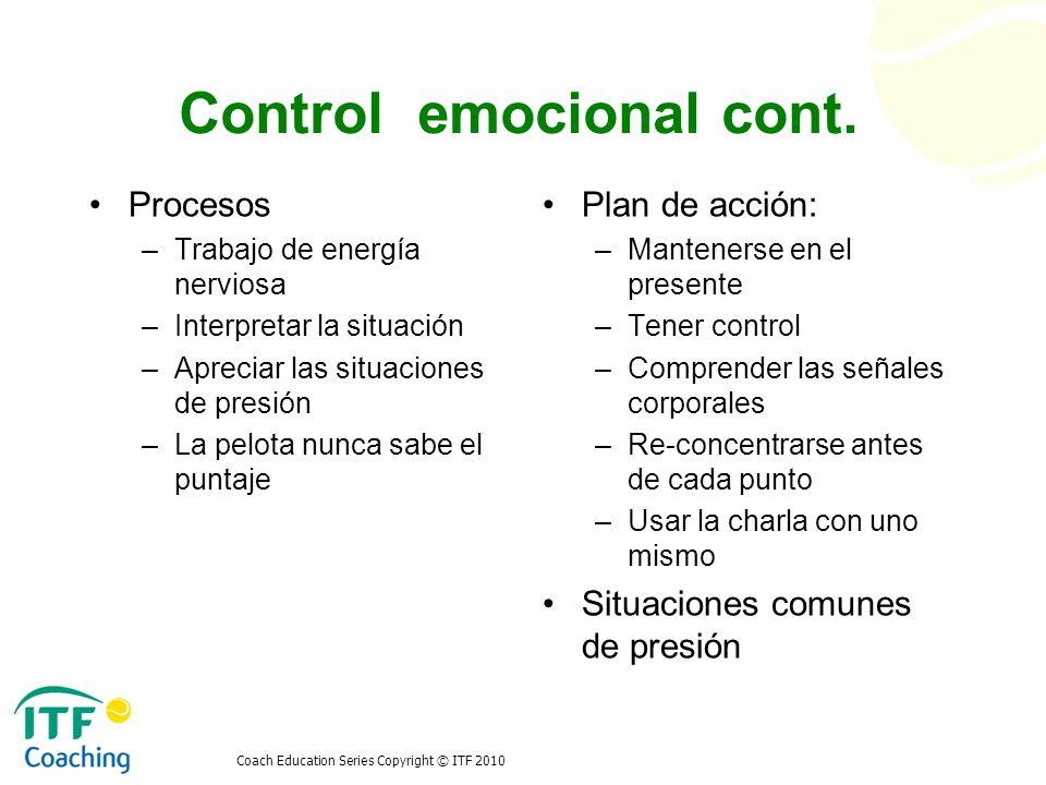 Control emocional cont.