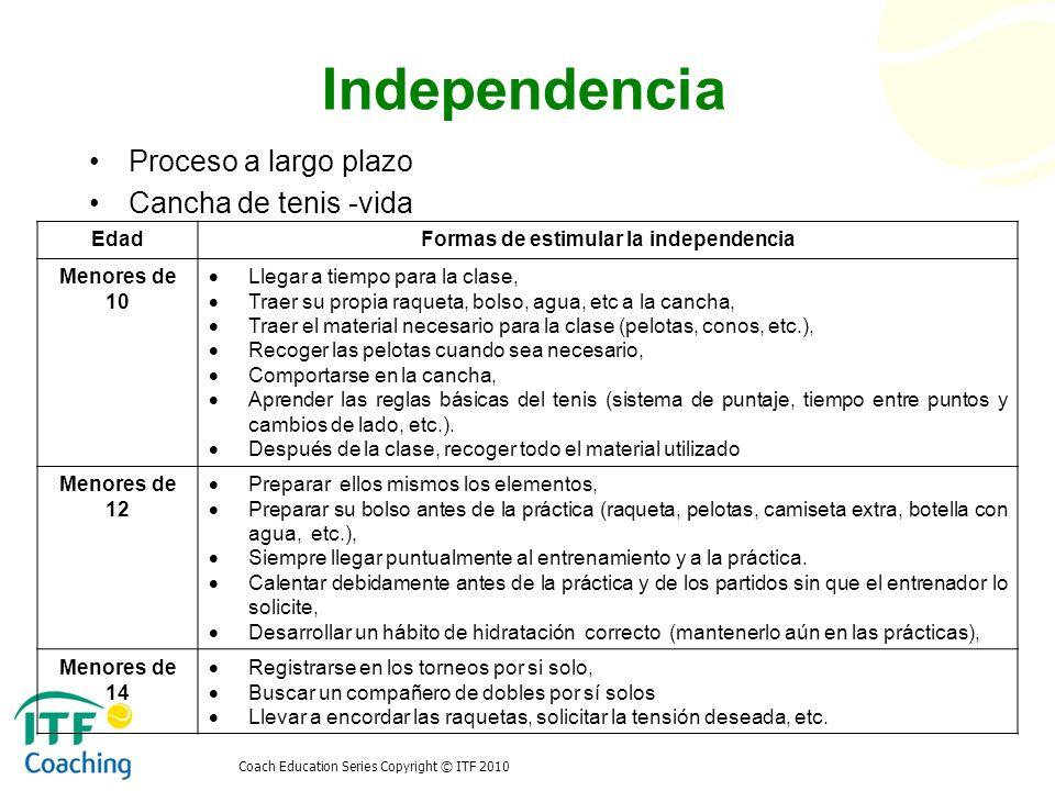 Formas de estimular la independencia