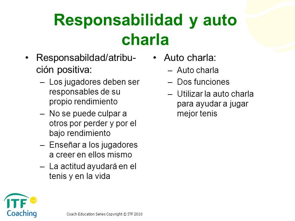 Responsabilidad y auto charla