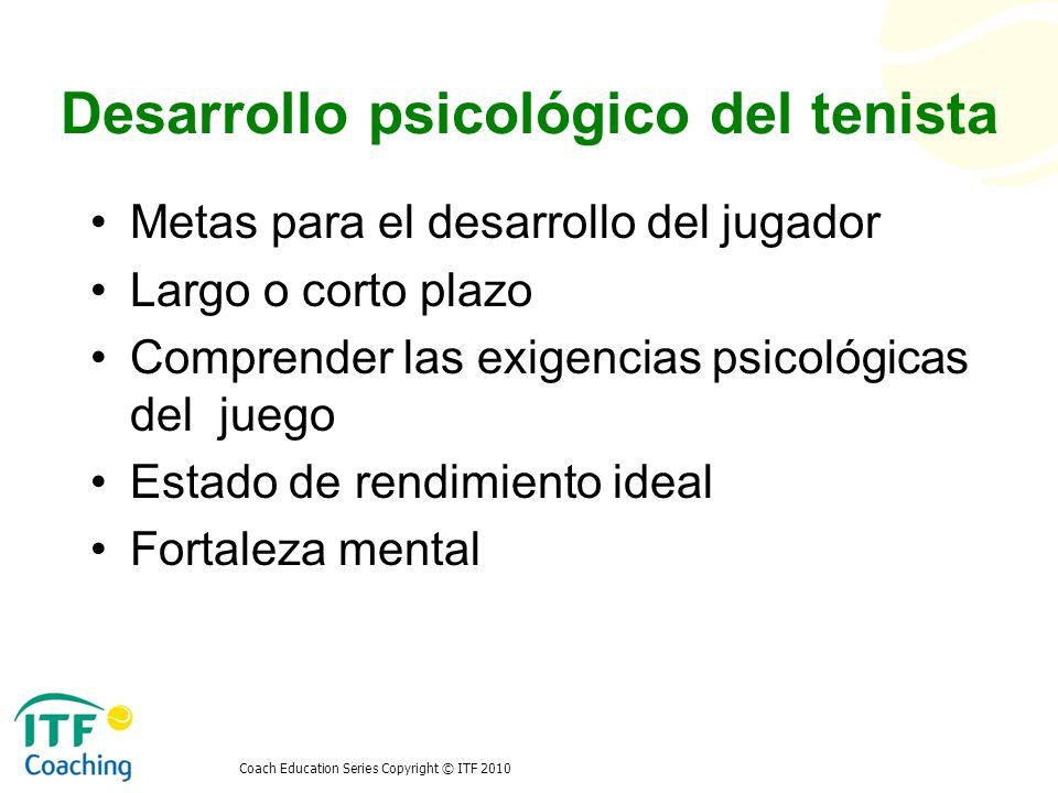 Desarrollo psicológico del tenista