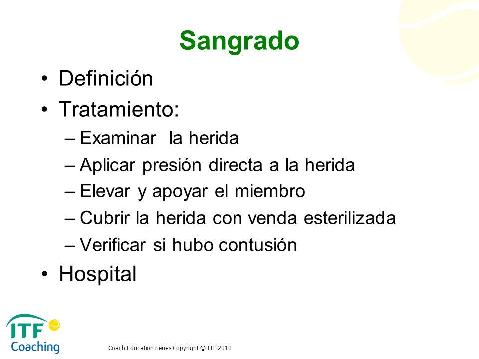 Sangrado Definición Tratamiento: Hospital Examinar la herida