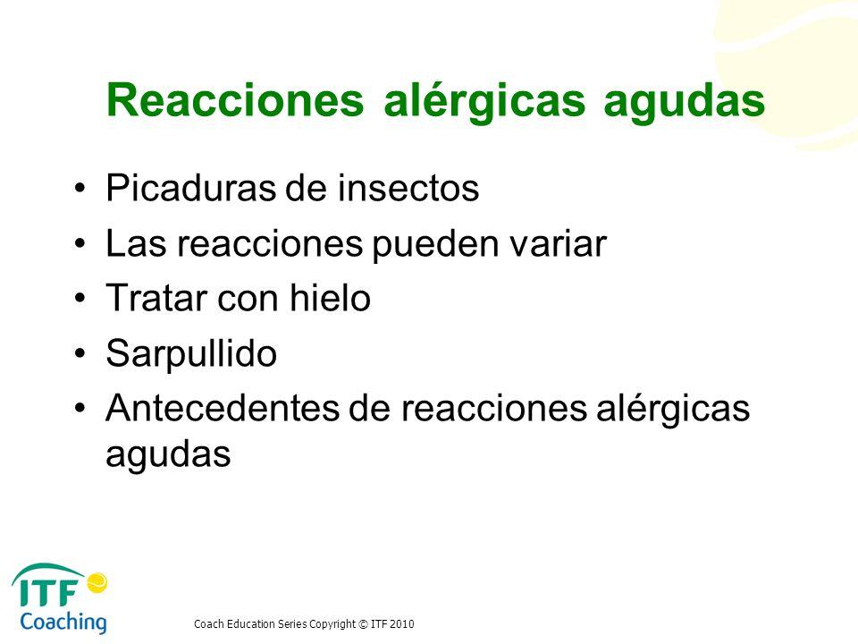 Reacciones alérgicas agudas