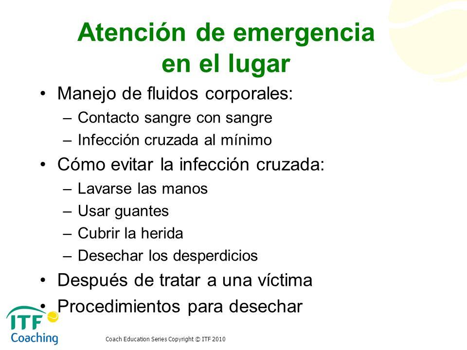 Atención de emergencia en el lugar