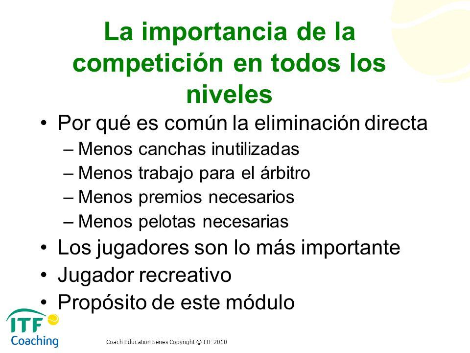 La importancia de la competición en todos los niveles