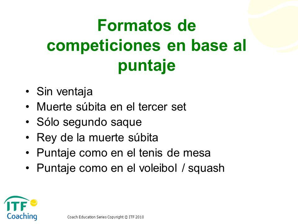 Formatos de competiciones en base al puntaje