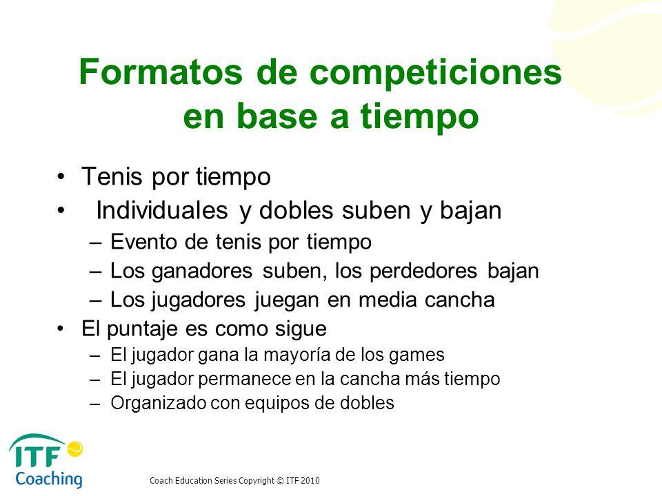 Formatos de competiciones en base a tiempo
