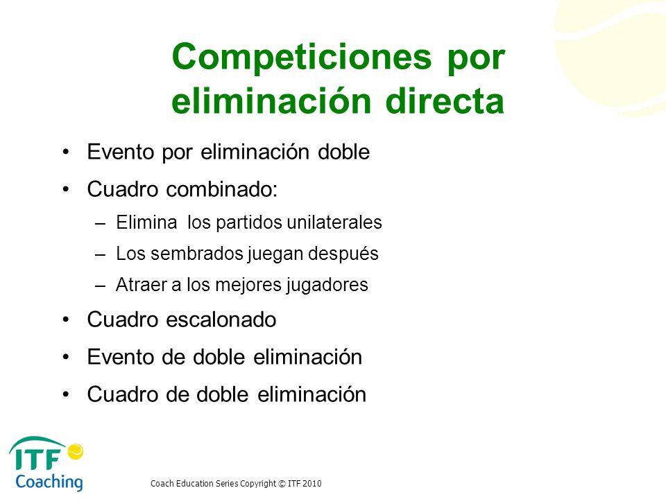 Competiciones por eliminación directa