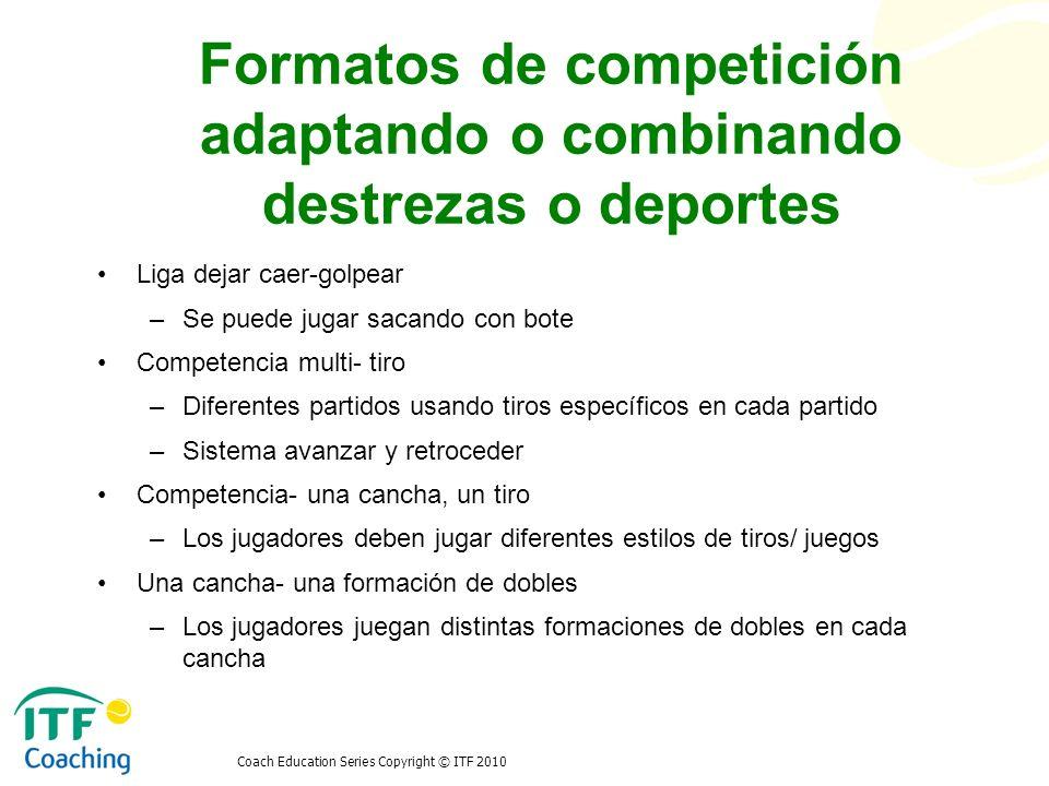 Formatos de competición adaptando o combinando destrezas o deportes
