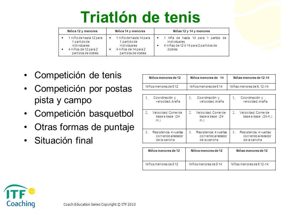 Triatlón de tenis Competición de tenis