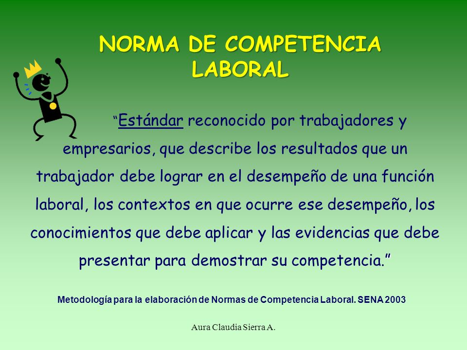 NORMA DE COMPETENCIA LABORAL