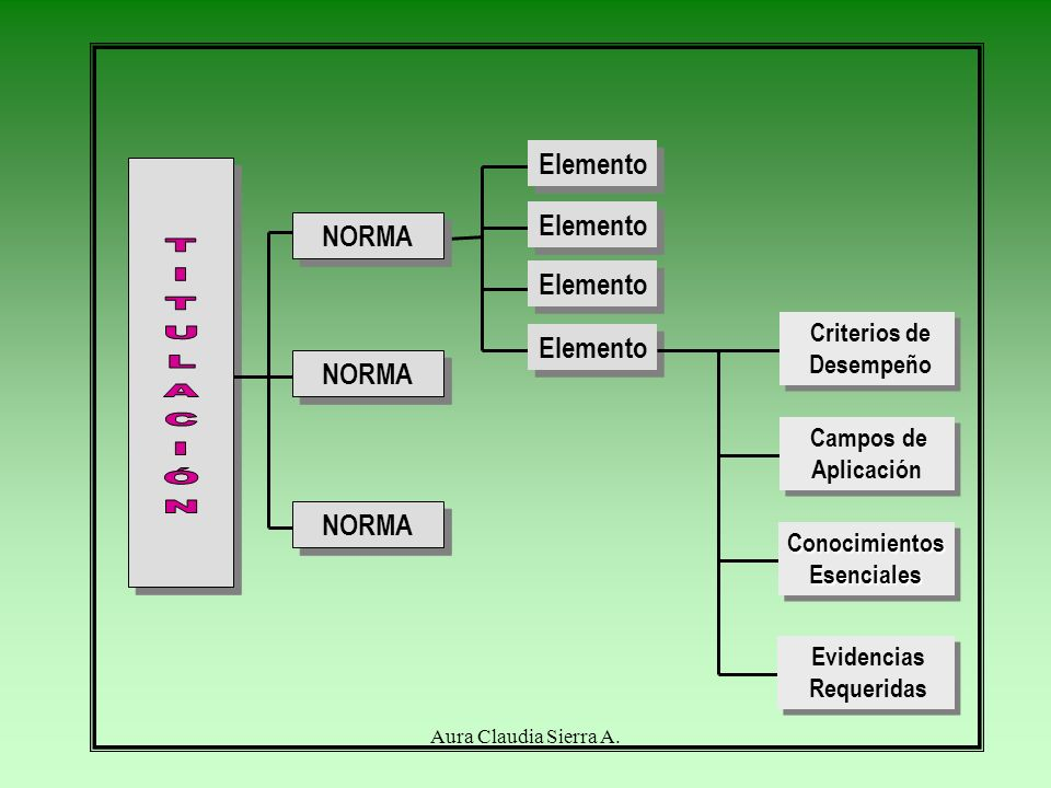 TITULACIÓN Elemento Elemento NORMA Elemento Elemento NORMA NORMA