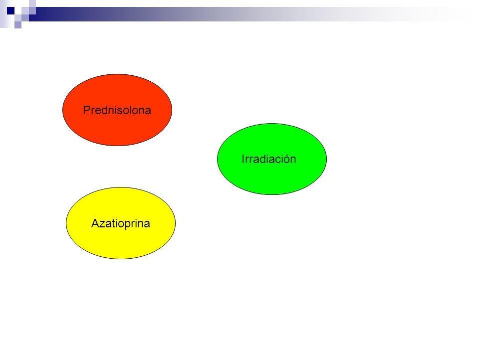Prednisolona Irradiación Azatioprina