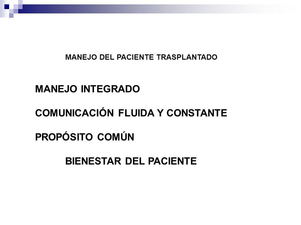 COMUNICACIÓN FLUIDA Y CONSTANTE PROPÓSITO COMÚN BIENESTAR DEL PACIENTE