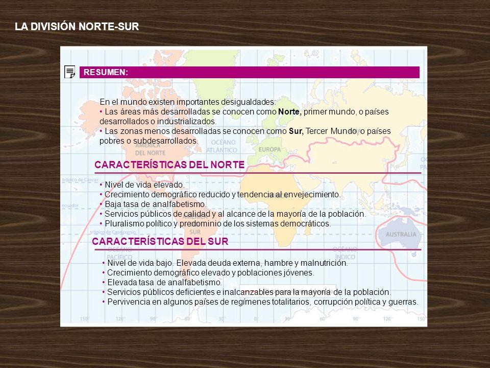 LA DIVISIÓN NORTE-SUR CARACTERÍSTICAS DEL NORTE