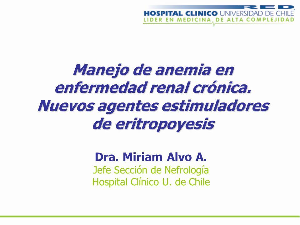 Manejo de anemia en enfermedad renal crónica