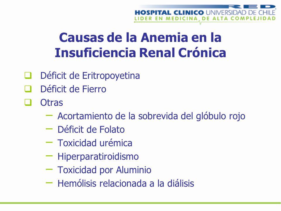 Causas de la Anemia en la Insuficiencia Renal Crónica