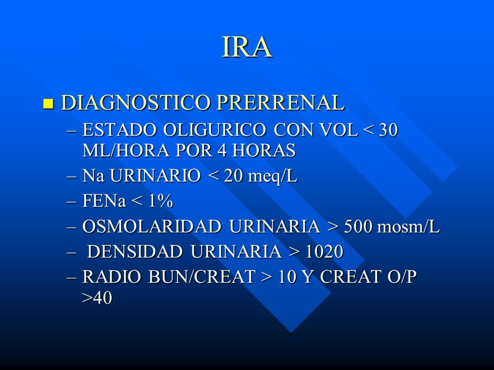 IRA DIAGNOSTICO PRERRENAL