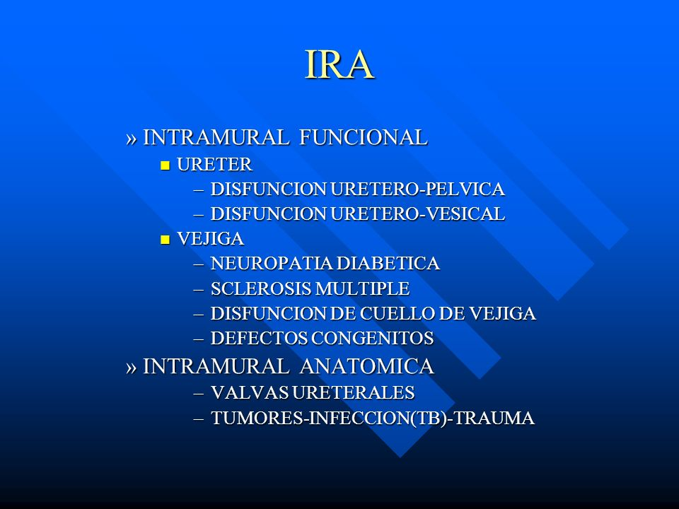 IRA INTRAMURAL FUNCIONAL INTRAMURAL ANATOMICA URETER