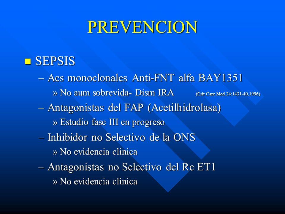 PREVENCION SEPSIS Acs monoclonales Anti-FNT alfa BAY1351