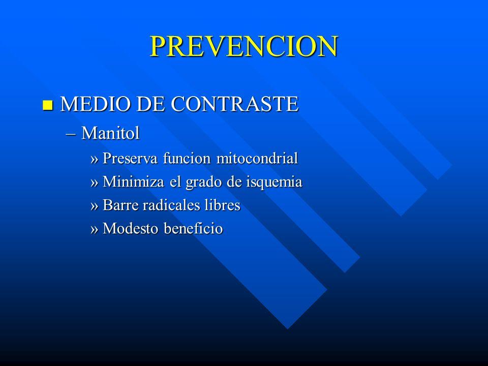 PREVENCION MEDIO DE CONTRASTE Manitol Preserva funcion mitocondrial