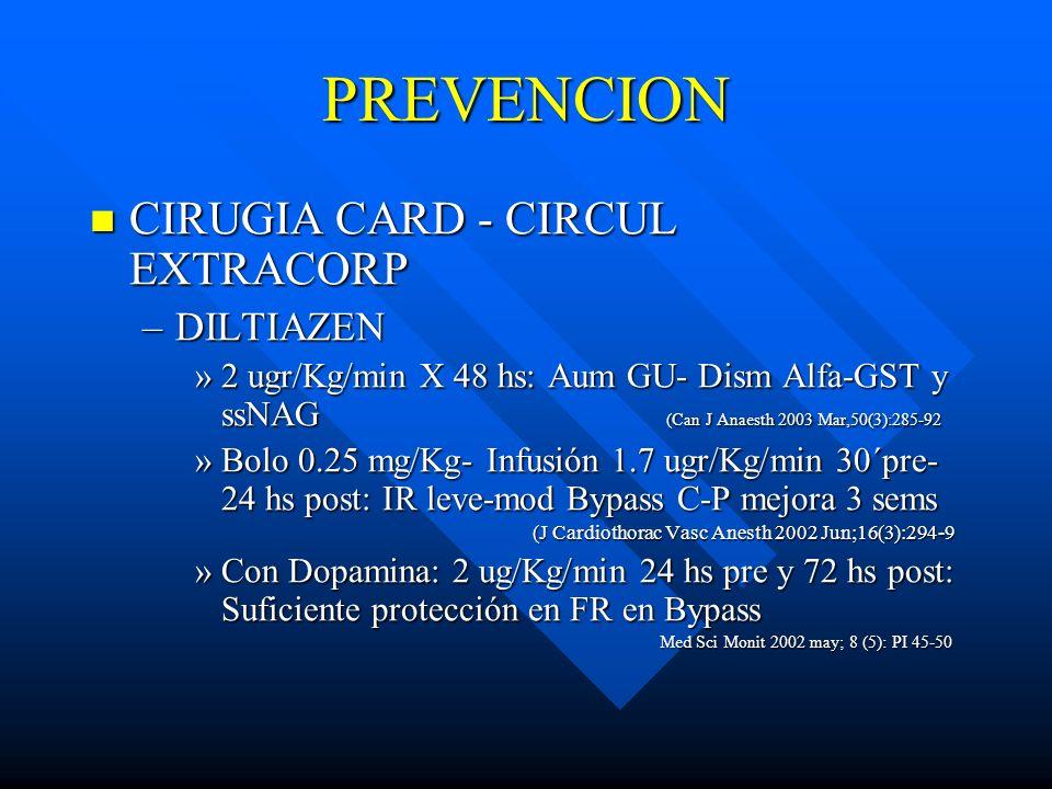PREVENCION CIRUGIA CARD - CIRCUL EXTRACORP DILTIAZEN