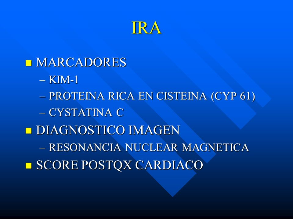IRA MARCADORES DIAGNOSTICO IMAGEN SCORE POSTQX CARDIACO KIM-1