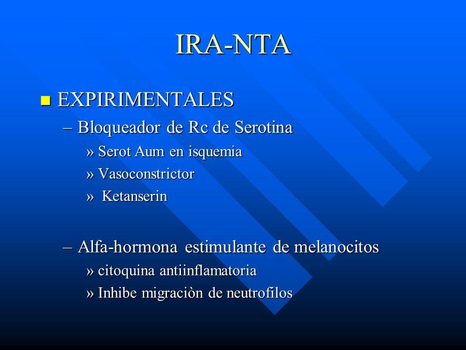 IRA-NTA EXPIRIMENTALES Bloqueador de Rc de Serotina