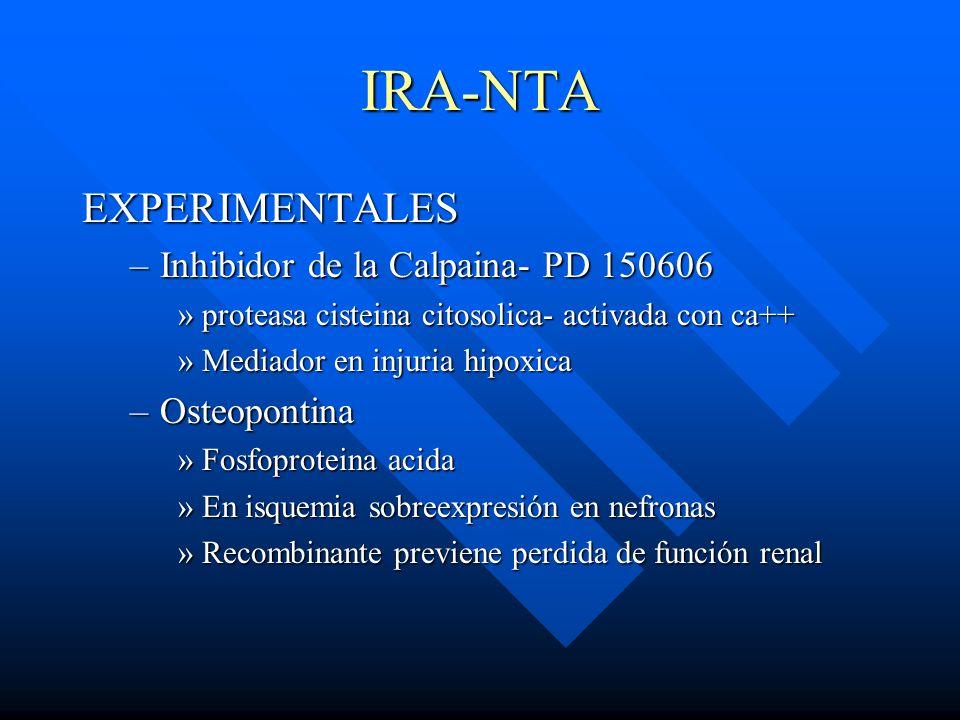 IRA-NTA EXPERIMENTALES Inhibidor de la Calpaina- PD 150606