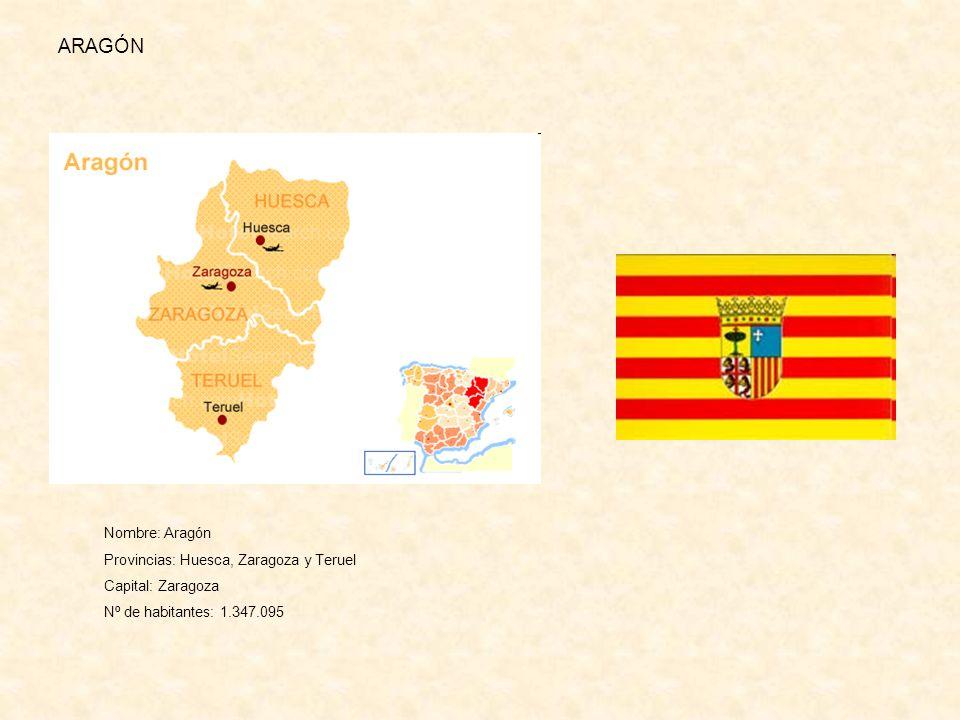 ARAGÓN Nombre: Aragón Provincias: Huesca, Zaragoza y Teruel