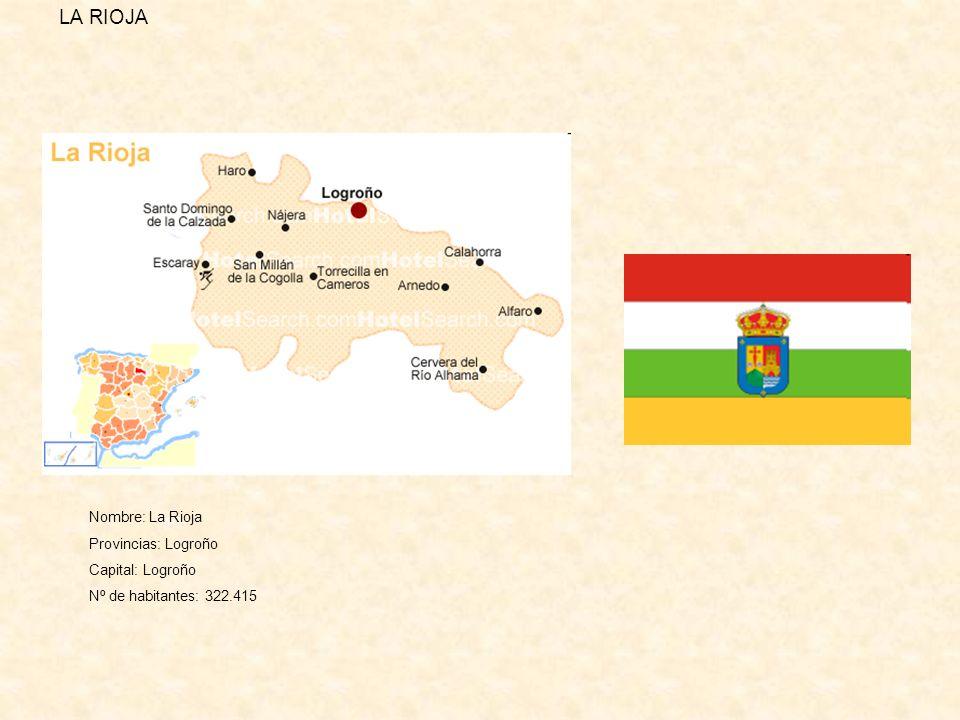 LA RIOJA Nombre: La Rioja Provincias: Logroño Capital: Logroño