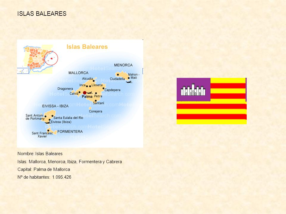 ISLAS BALEARES Nombre: Islas Baleares