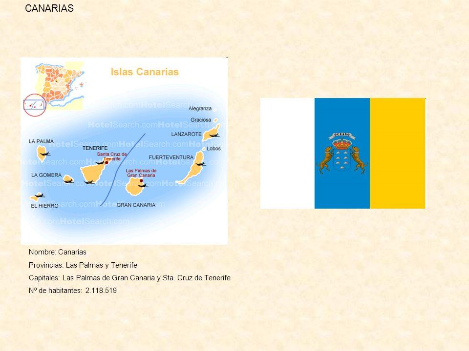 CANARIAS Nombre: Canarias Provincias: Las Palmas y Tenerife