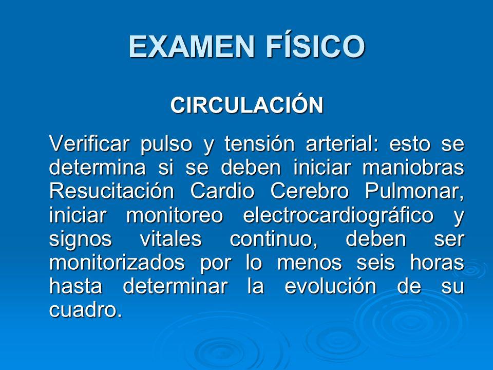 EXAMEN FÍSICO CIRCULACIÓN