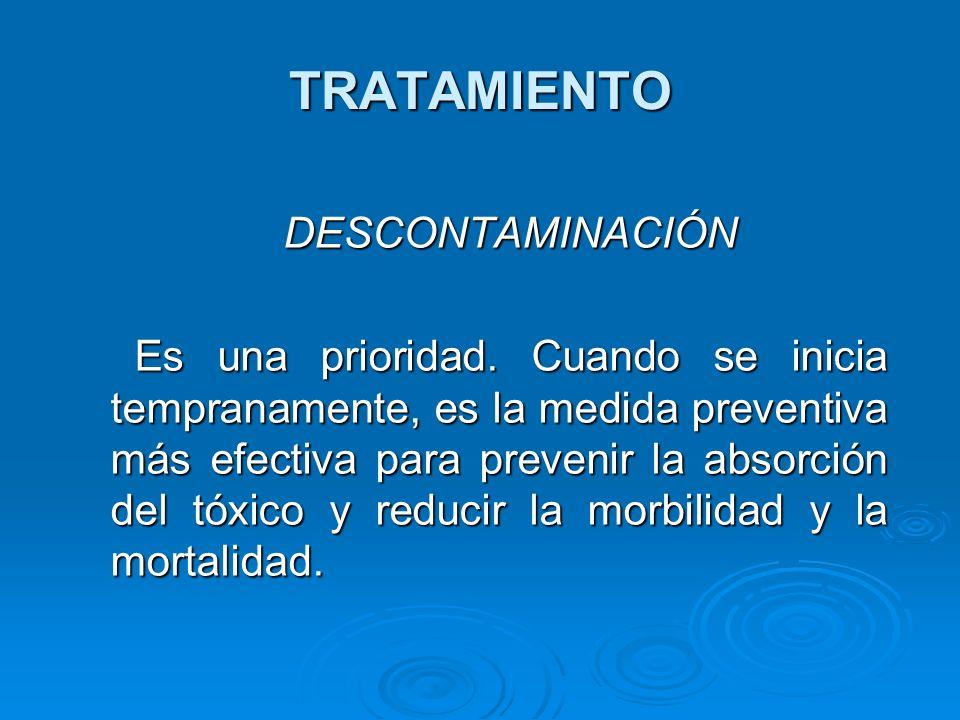 TRATAMIENTO DESCONTAMINACIÓN