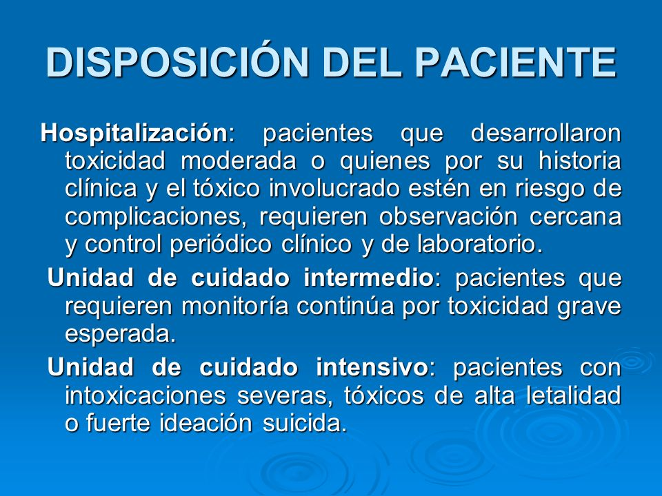 DISPOSICIÓN DEL PACIENTE
