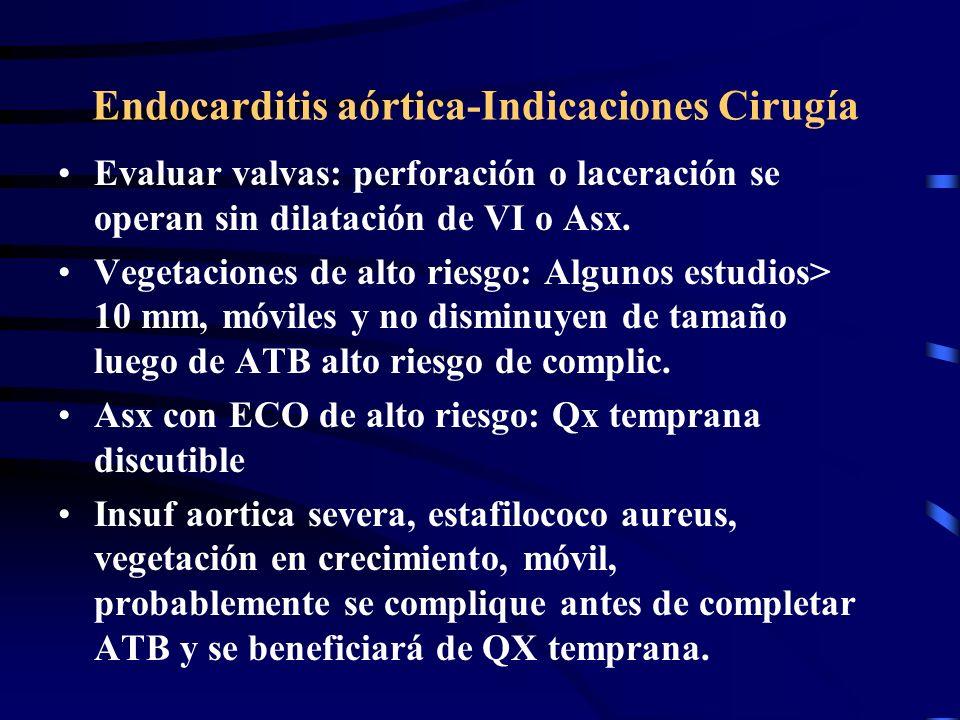 Endocarditis aórtica-Indicaciones Cirugía