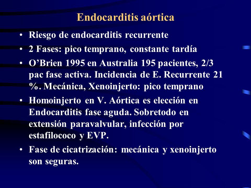 Endocarditis aórtica Riesgo de endocarditis recurrente