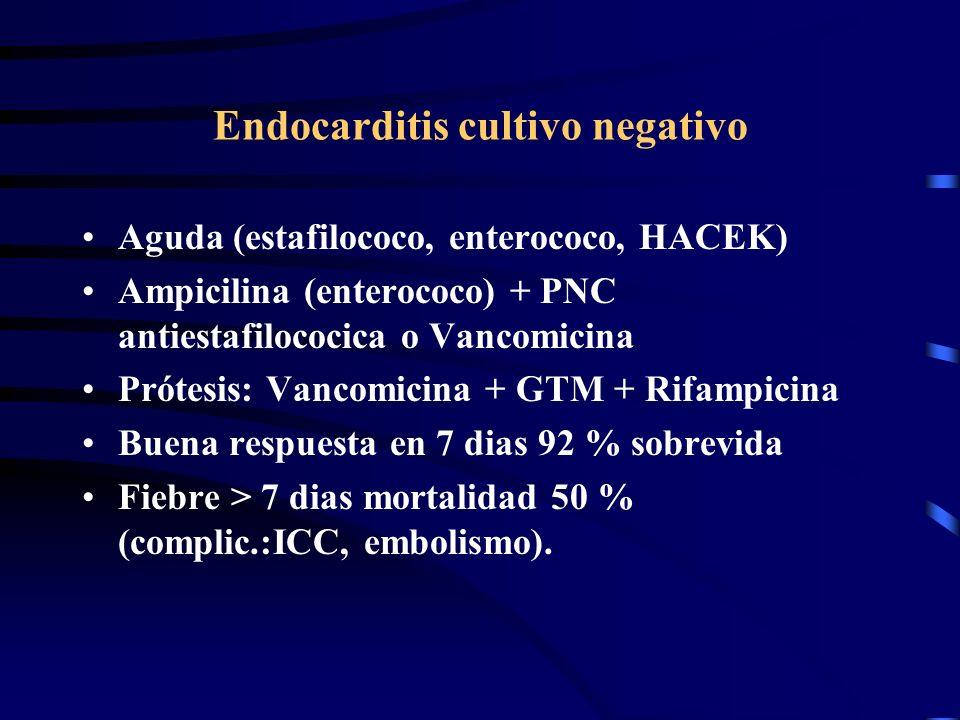 Endocarditis cultivo negativo