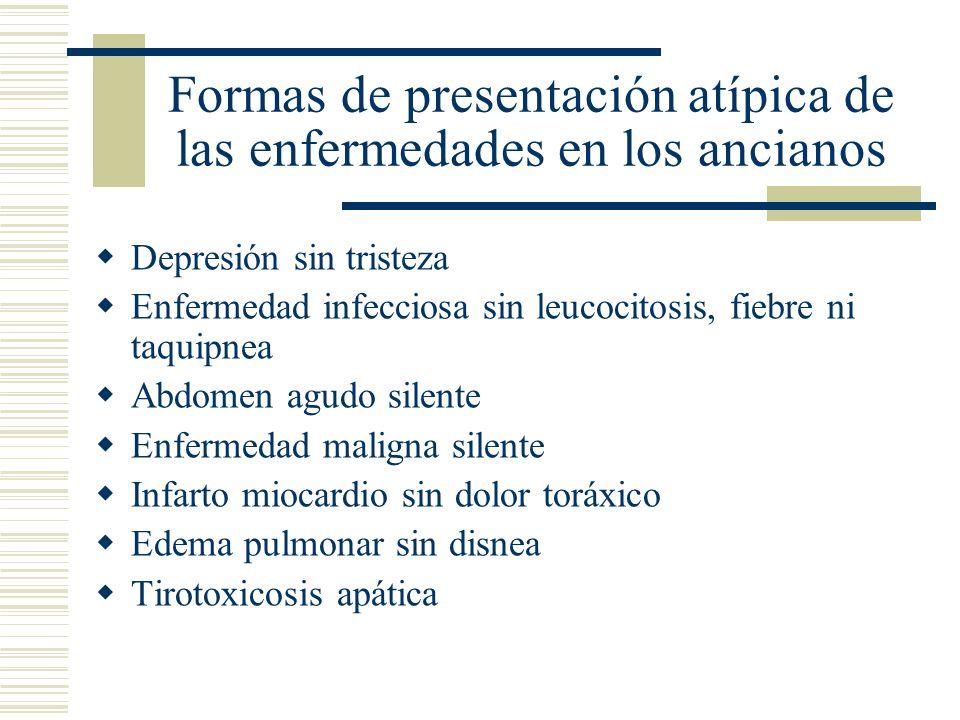 Formas de presentación atípica de las enfermedades en los ancianos