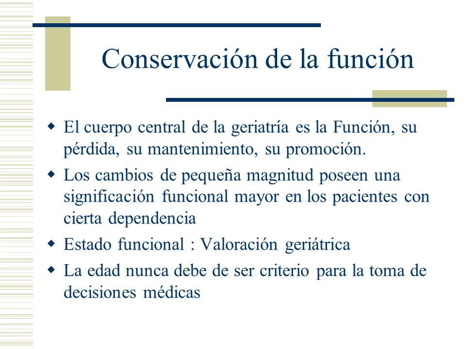 Conservación de la función