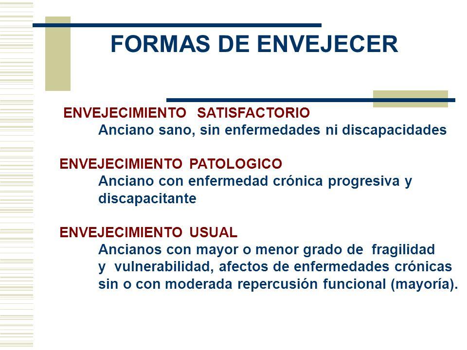 FORMAS DE ENVEJECER ENVEJECIMIENTO SATISFACTORIO