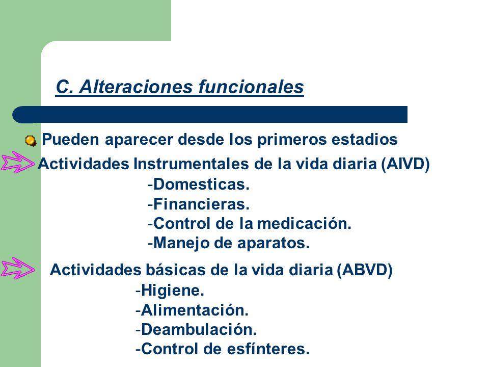 C. Alteraciones funcionales