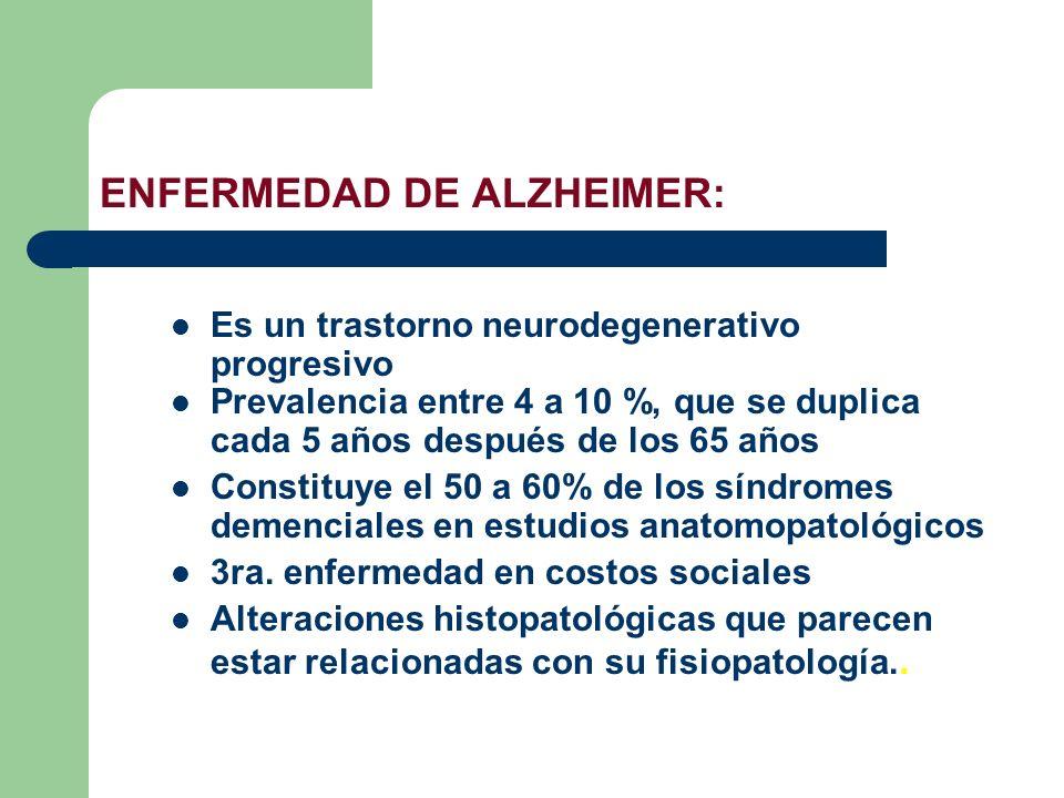 ENFERMEDAD DE ALZHEIMER: