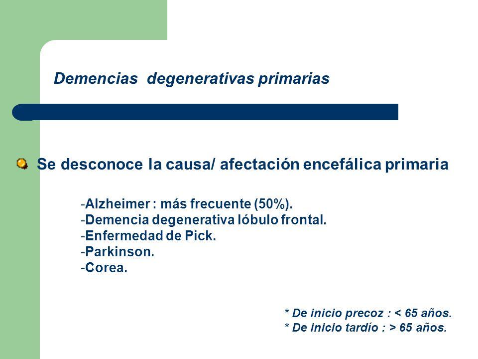 Demencias degenerativas primarias