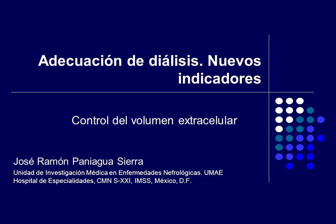 Adecuación de diálisis. Nuevos indicadores