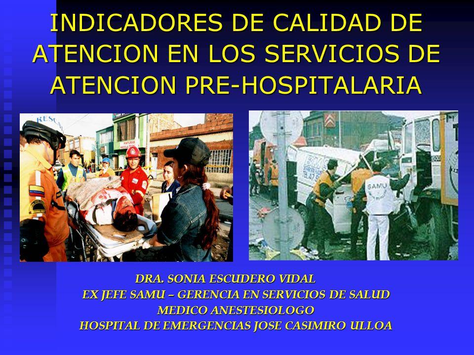 INDICADORES DE CALIDAD DE ATENCION EN LOS SERVICIOS DE