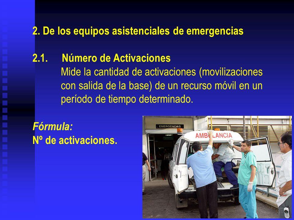 2. De los equipos asistenciales de emergencias 2. 1